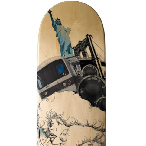 JUNKPRINTS.COM Dana Athens BROOKLYN BREEZE SKATEDECK