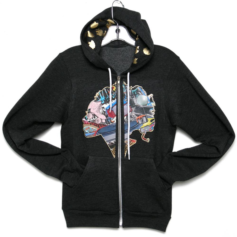 JUNKPRINTS.COM Roller Skatin Hoodie